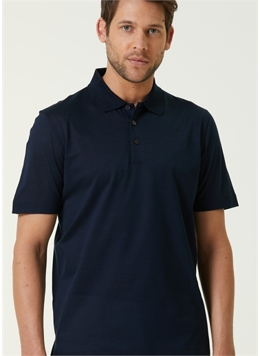 Canali Polo Yaka T-shirt Lacivert